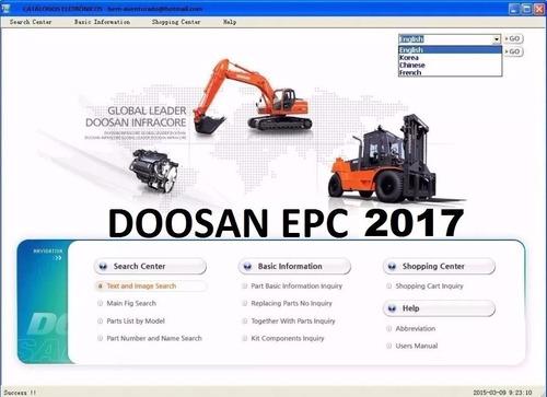 doosan infracore gpes [03.2017] catalogo de piezas