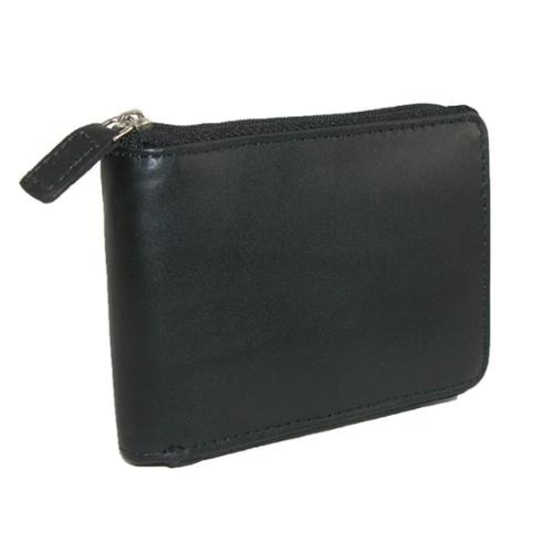 dopp hombres cuero regatta zip-around cartera billetera
