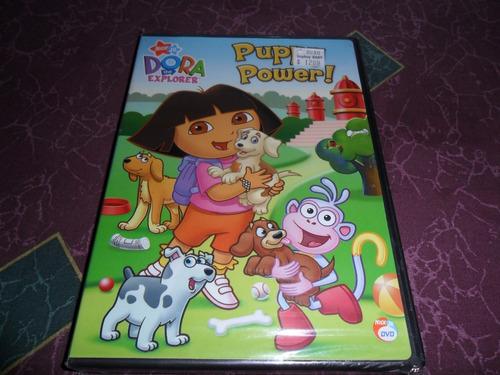 dora la exploradora dvd puppy power, español e ingles