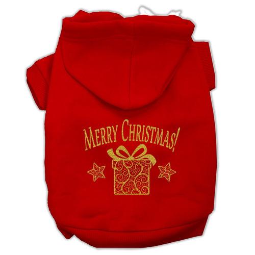 dorado navidad present pet hoodies rojo tamaño lg (14)
