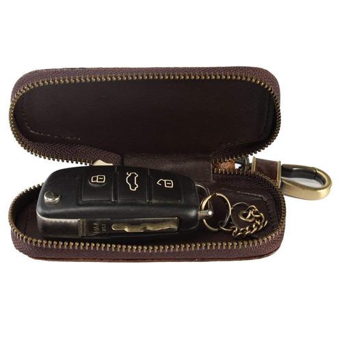 dorado tai llave del coche de cuero bolsa de la cadena cocod
