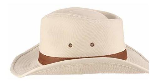dorfman pacifico sombrero lavado con interior de tela cruzad