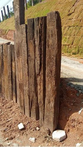 dormente de madeira de 3 e 4 faces - frete a parte