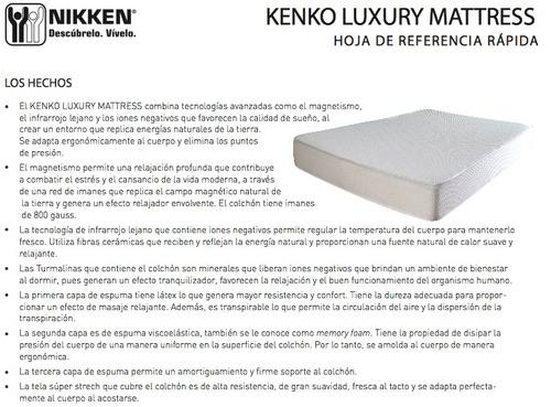 Dormir mejor nikken colch n magn tico kenko mattress queen 30 en mercado libre - El mejor colchon para descansar ...