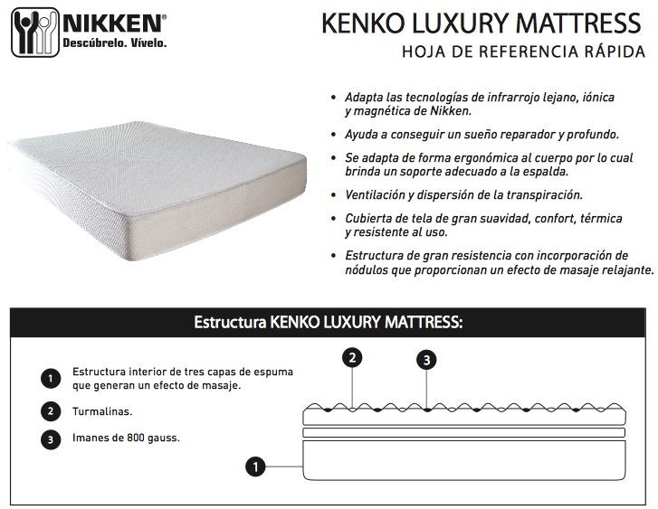 Dormir mejor nikken colch n magn tico kenko mattress queen 30 en mercado libre - Mejor colchon viscoelastico del mercado ...