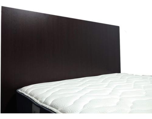 dormitorio 1.5 plazas: cama | velador | colchón ortopédico