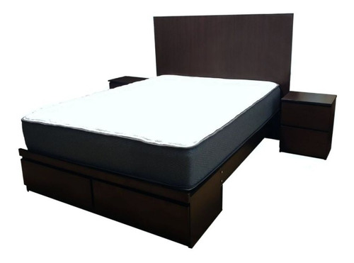 dormitorio 2 plazas: colchón ortopédc   veladores   sabanera