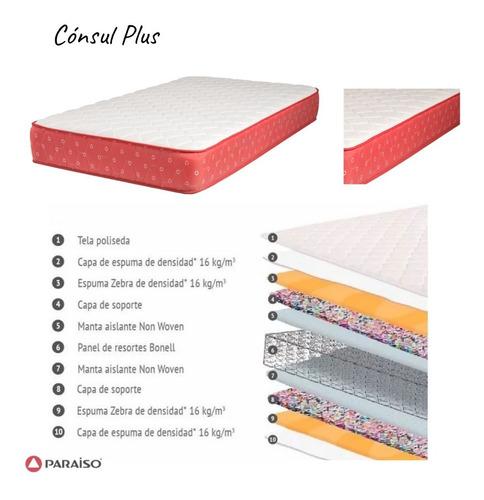 dormitorio 2 plazas: tapizado | colchón ortopd. | veladores
