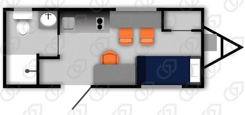 dormitorio , casa , habitacion camper  8 x 24 pies, nuevo