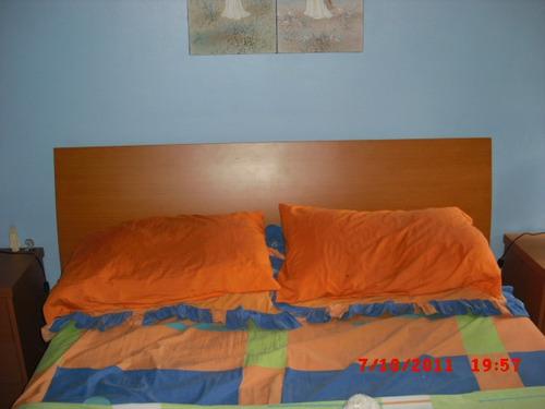 dormitorio  cuarto matrimonial mdf madera color cerezo
