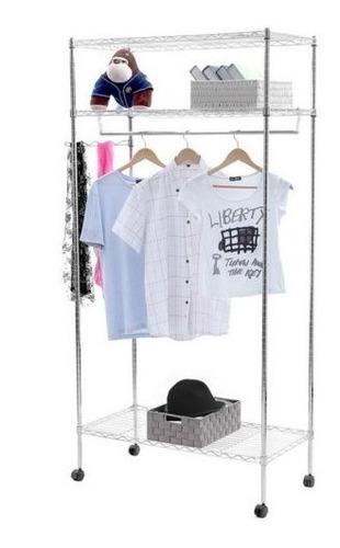 dormitorio de estante para el hogar, perchero para ropa, pe