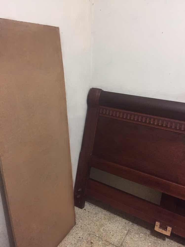 dormitorio de roble colineal 2 1/2 plazas $390
