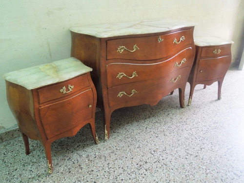dormitorio frances luis xv bombe barroco comoda mesas de luz