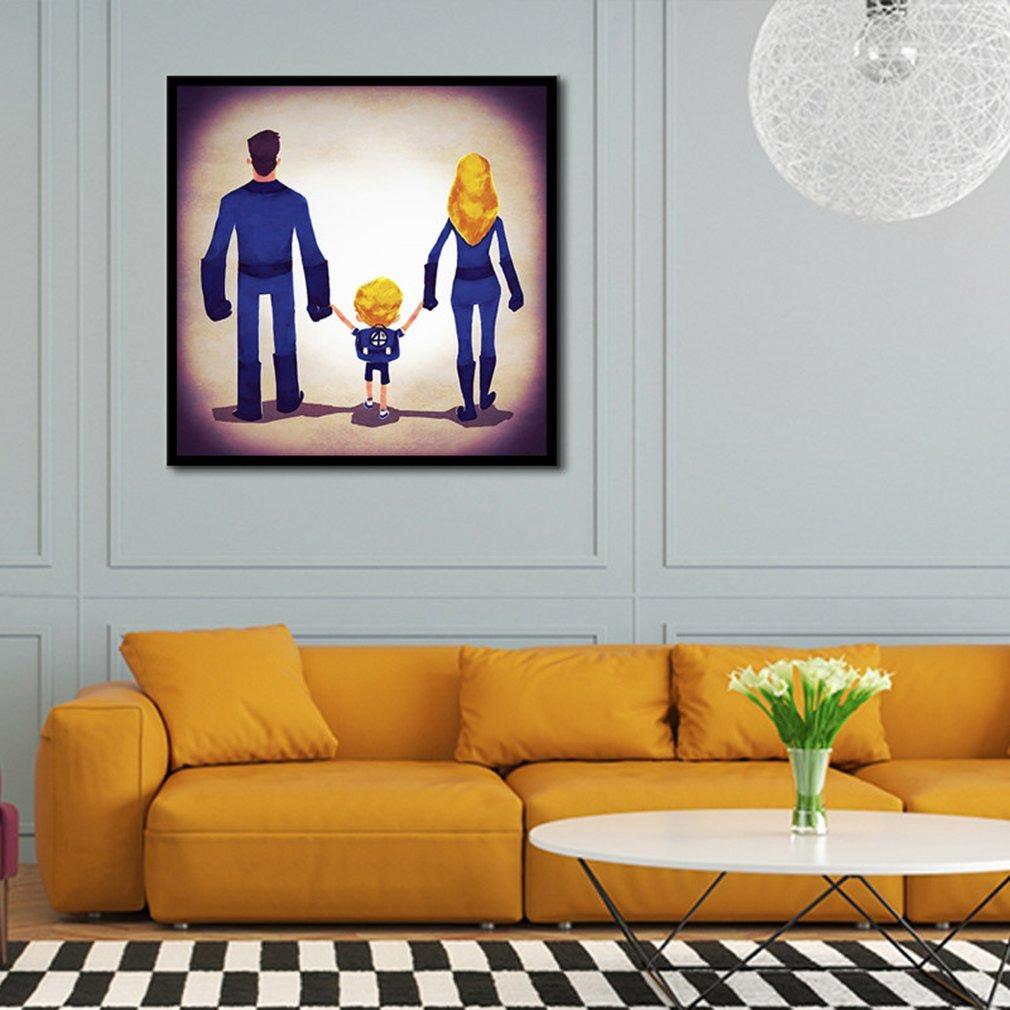Dormitorio Pintura Aceite óleo De Dibujos Animados Superhom