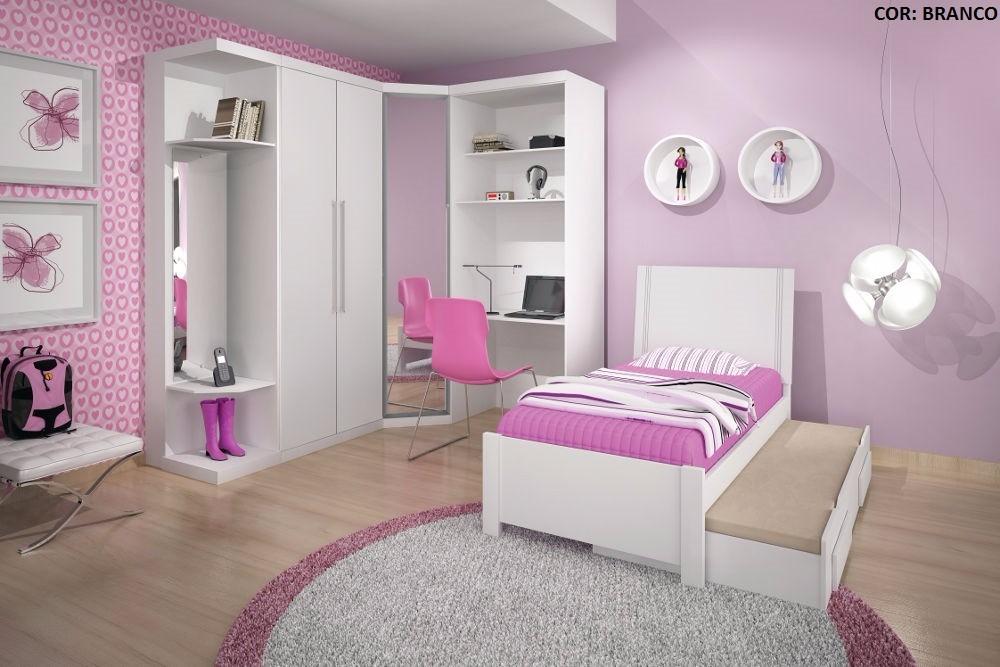 Dormitorio Roma ~ Dormitório Solteiro Modulado Roma 100% Mdf Bianchi Móveis R$ 3 430,90 em Mercado Livre