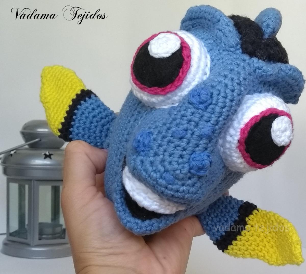 Crochet PATTERN No 1624- blue fish pattern by Krawka | Wzory ... | 1074x1200