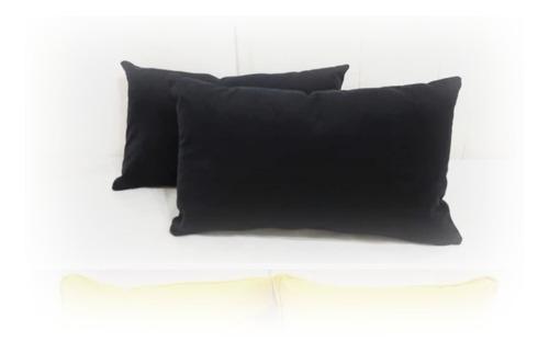 dos almohadon de pana terciopelo negro 45x75