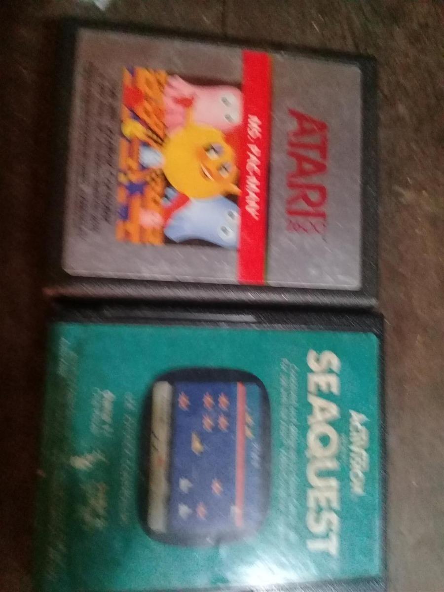 Dos Antiguos Juegos Atari 2600 Activision Ms Pacman Seaquest 390