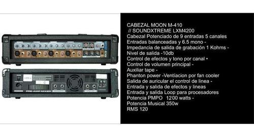 dos bafles consola 9 ent.c/ efec. potencia 1200w + 2 mic