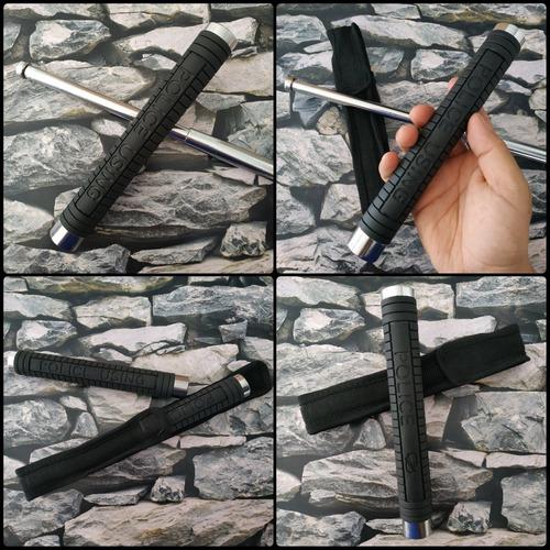 dos bastón tambo metalico defensa personal pack x 2 unidades