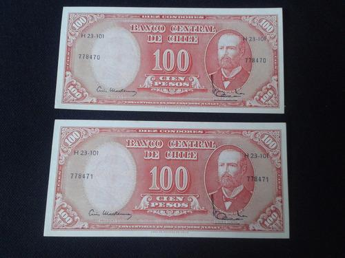 dos billetes chile mackenna ibañez correlativos