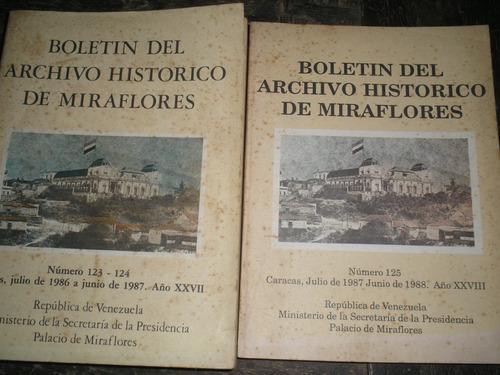 dos boletines del archivo historico de miraflores