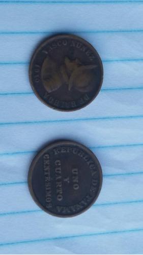 dos cuartillos ( uno y cuarto centésimos) de 1940