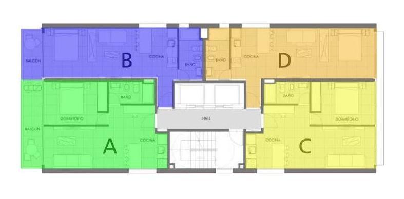 dos dormitorios - francia y cordoba - medicina - cocheras