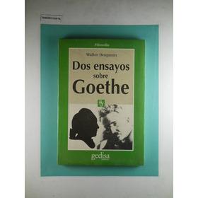 Dos Ensayos Sobre Goethe Walter Bejamin Ultimo Ejemplar