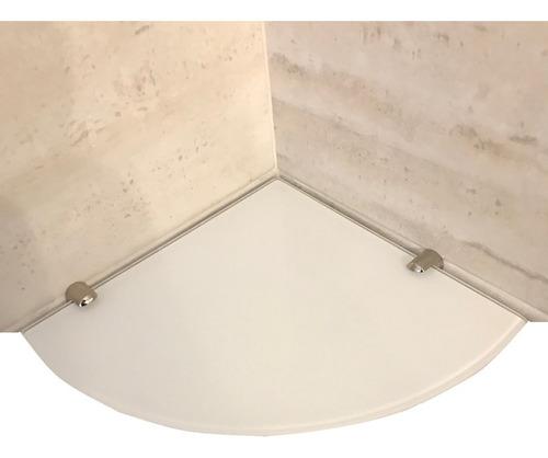 dos estantes esquinero vidrio coverglass blanco 5mm 20x20