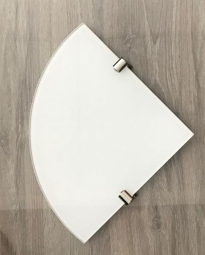 dos estantes esquinero vidrio coverglass blanco 5mm 25x25
