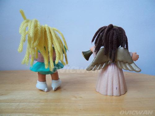 dos figuras muñecas cabbage patch noventas mcdonalds ca10