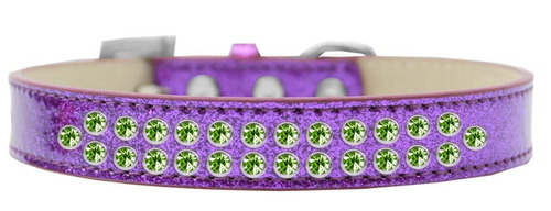 dos fila lima verde cristal tamaño 12 púrpura hielo crema