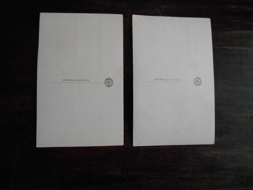 dos foto postales del museo del louvre, francia.