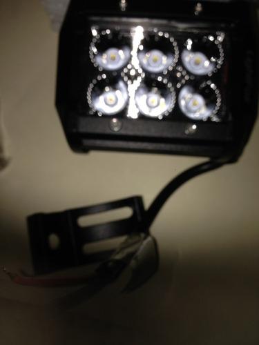 dos halogenos led de 1200 lumens cada uno moto carro