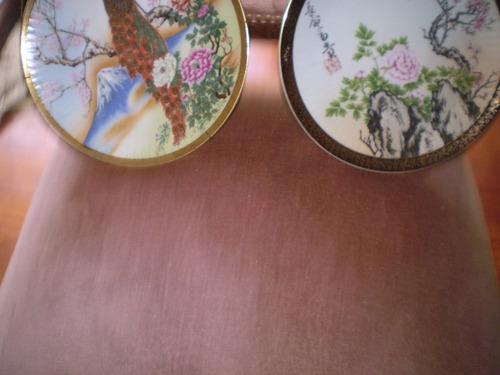dos hermosos platos porcelana tsuji