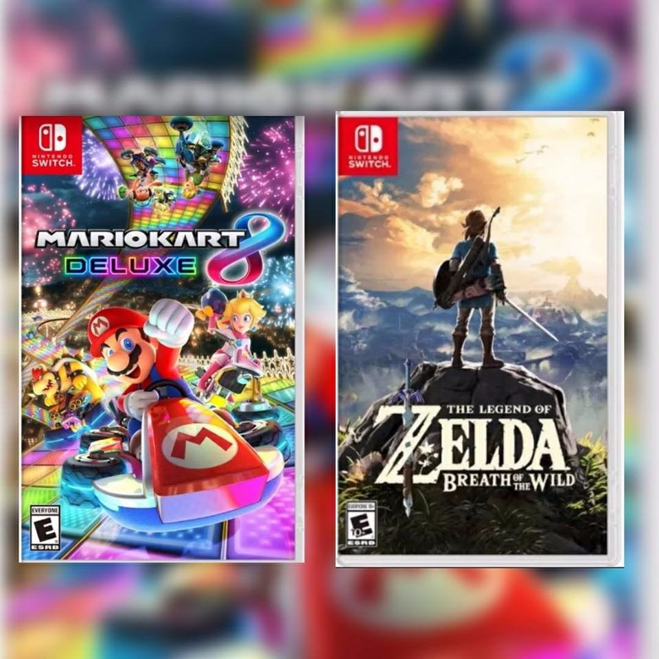 Dos Juegos Switch Mario Kart 8 Deluxe Zelda Breath 2 690 00 En