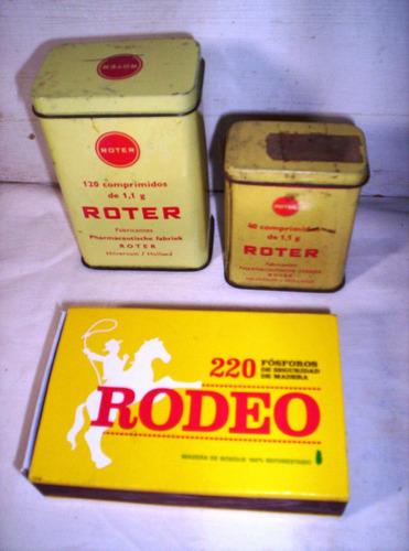dos latas de medicamentos origen holanda-roter