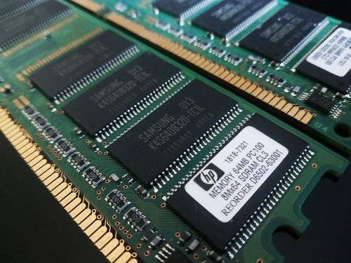 dos módulos de memoria ram hp d6502-63001 64 mb 1818-7321