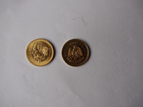 dos monedas de dos y medio pesos de oro