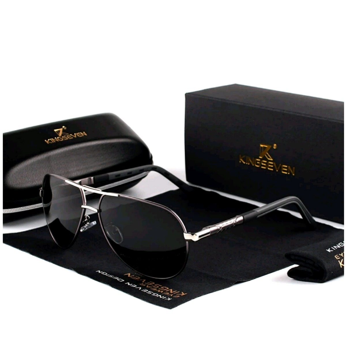4f80ccd8c Óculos De Sol Masculino Dos Homens Óculos De Sol - R$ 188,95 em ...