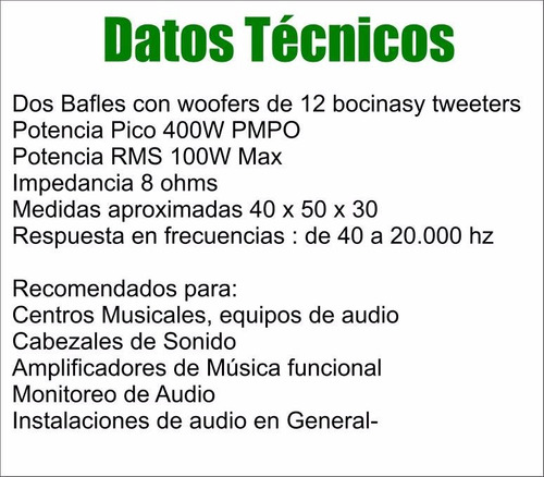dos parlantes dancis de 12  3 vías 400w 8 ohms by dancis
