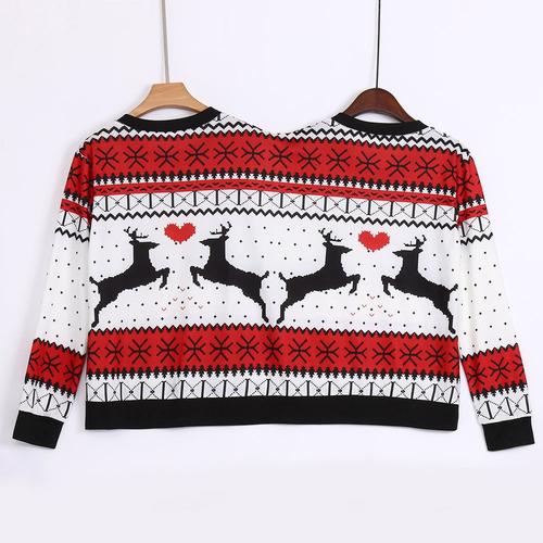 dos personas ugly suéter de navidad parejas pullover novedad