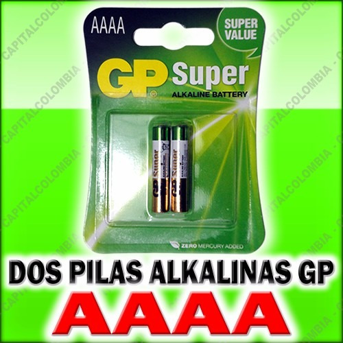 dos pilas alkalinas aaaa (4a) marca gp