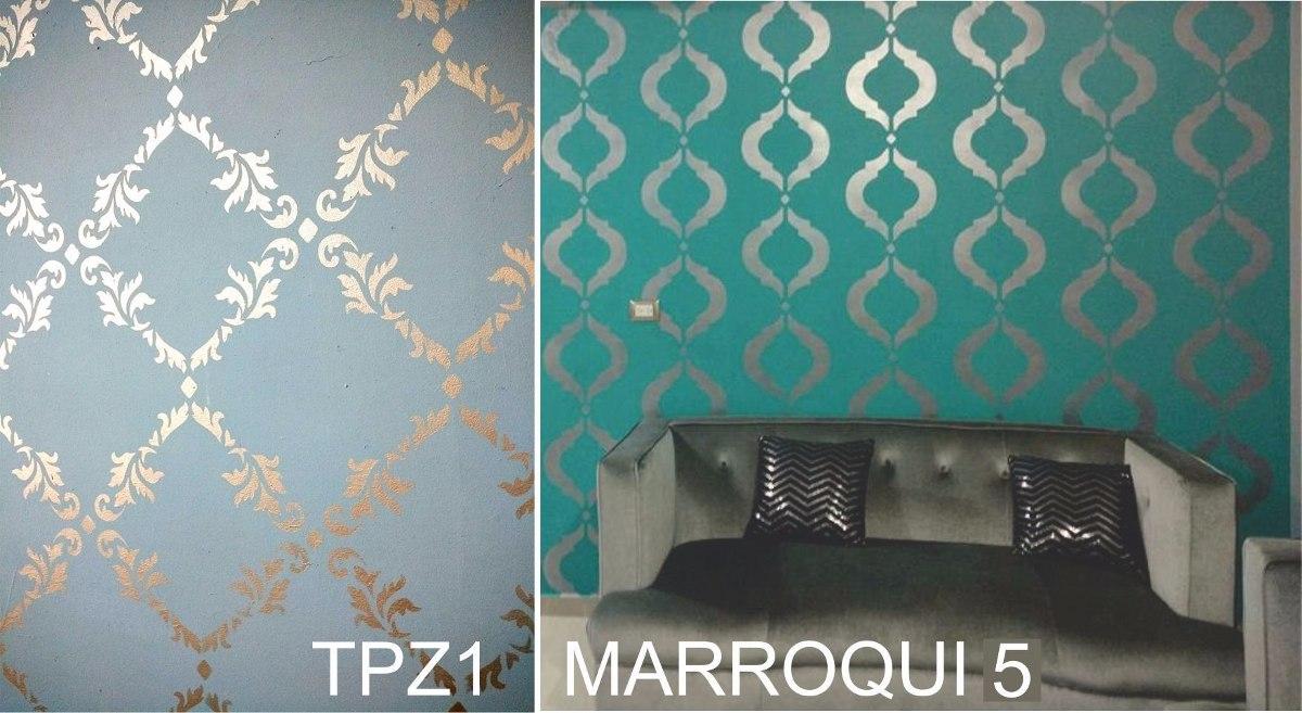 Dos plantillas decorativas a un super precio stencil - Plantillas decorativas pared ...