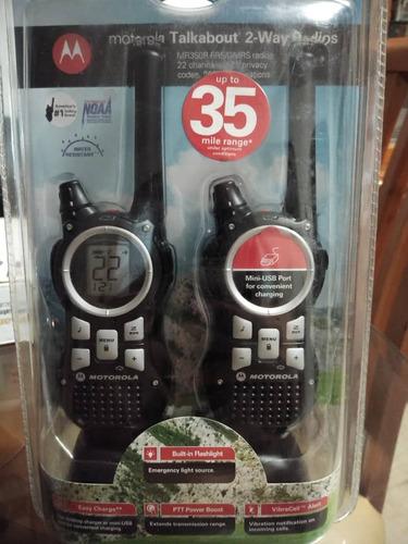 dos radios motorola mr350r rango 35 millas 22 canales nuevos