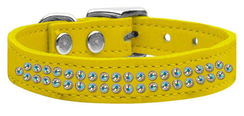 dos row ab jeweled cuero amarillo 16