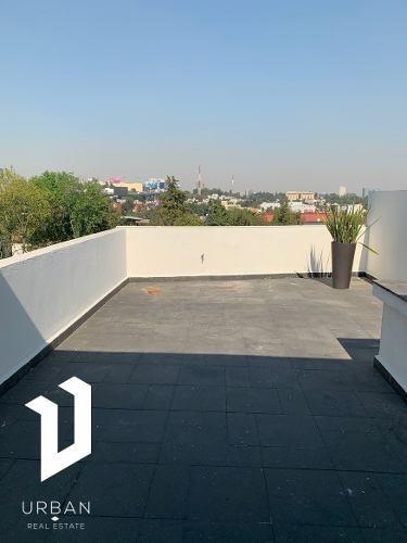 dos terrazas privadas, en edificio con amenities.