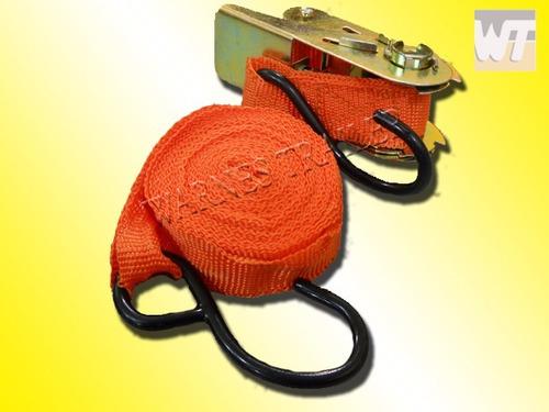 dos zunchos con crique cinta de amarre sunchos 5 mt x 2,5 cm