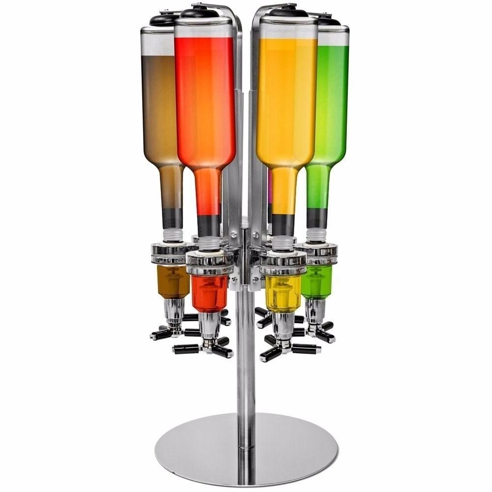 Suporte dispenser dosador de bebidas drink bar 4 garrafas r 259 00 em mercado livre - Porte bouteille doseur bar ...